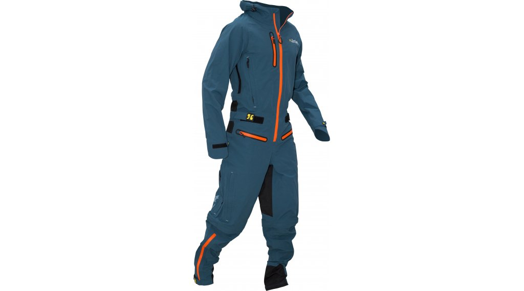 Dirtlej DirtSuit Core Edition Regenanzug Herren Gr. L sapphire blue/orange