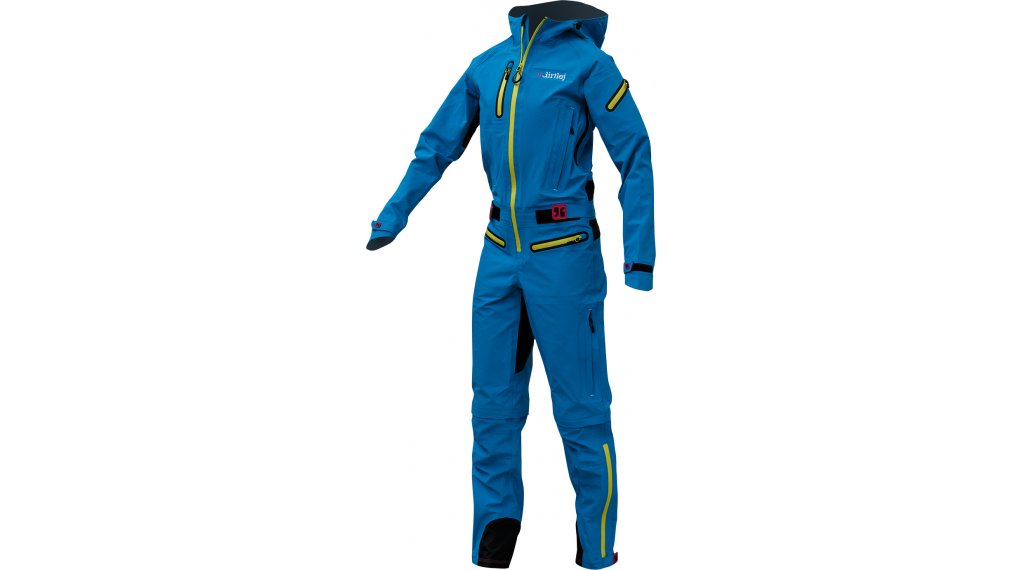 Dirtlej DirtSuit Core Edition Regenanzug Damen Gr. XL turquoise/yellow
