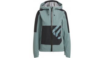 Five Ten All Mountain rain jacket ladies hazy emerald/black
