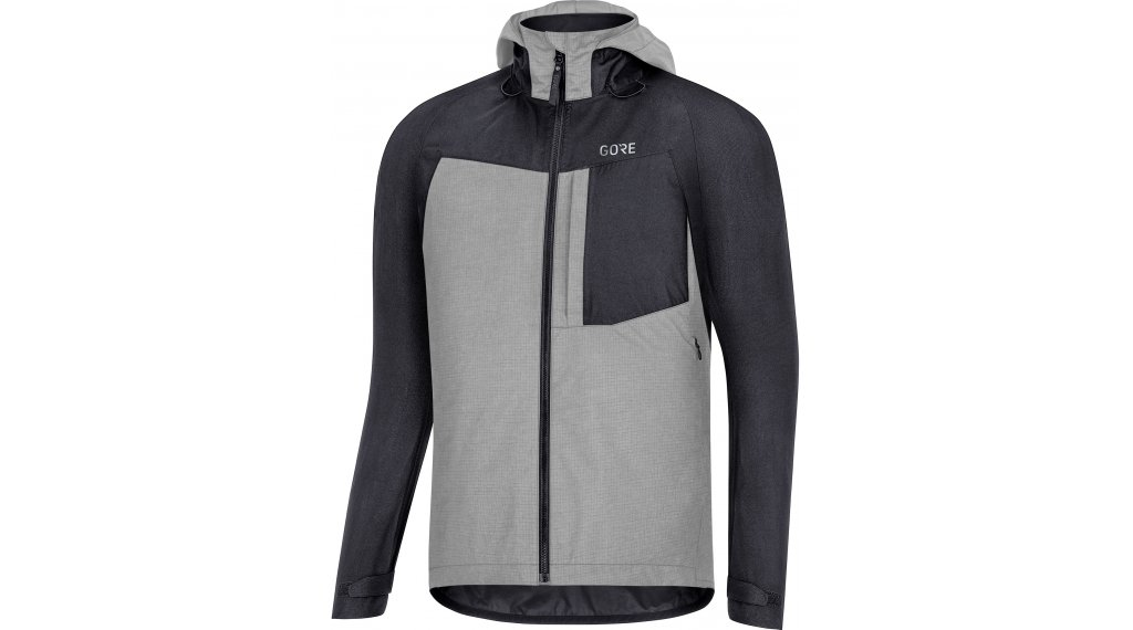 Gore C5 GORE-TEX Trail felpa zip con cappuccio da uomo mis. S black
