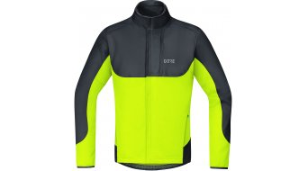 Gore C5 Windstopper thermo Trail jack heren maat S black/neon yellow