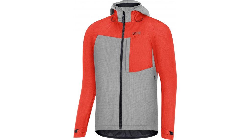 Gore Wear C5 GORE-TEX Trail felpa zip con cappuccio da uomo mis. S fireball/terra grigio