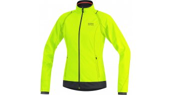 GORE Bike Wear Element Jacke Damen-Jacke Windstopper Active Shell Zip-Off Lady neon yellow/black
