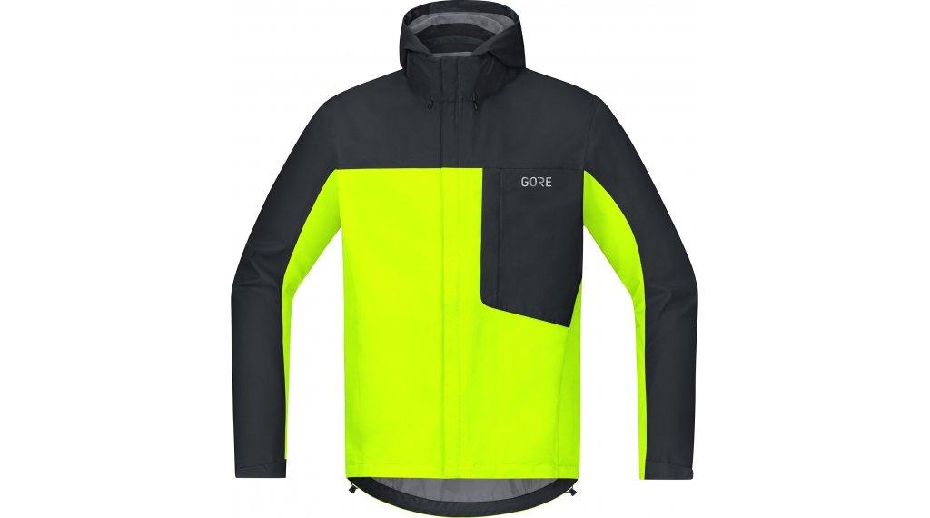 GORE C3 Gore-Tex Paclite Kapuzenjacke Herren Gr. S neon yellow/black