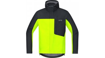 Gore C3 Gore-TEX Paclite hoodie jacket men neon yellow/black