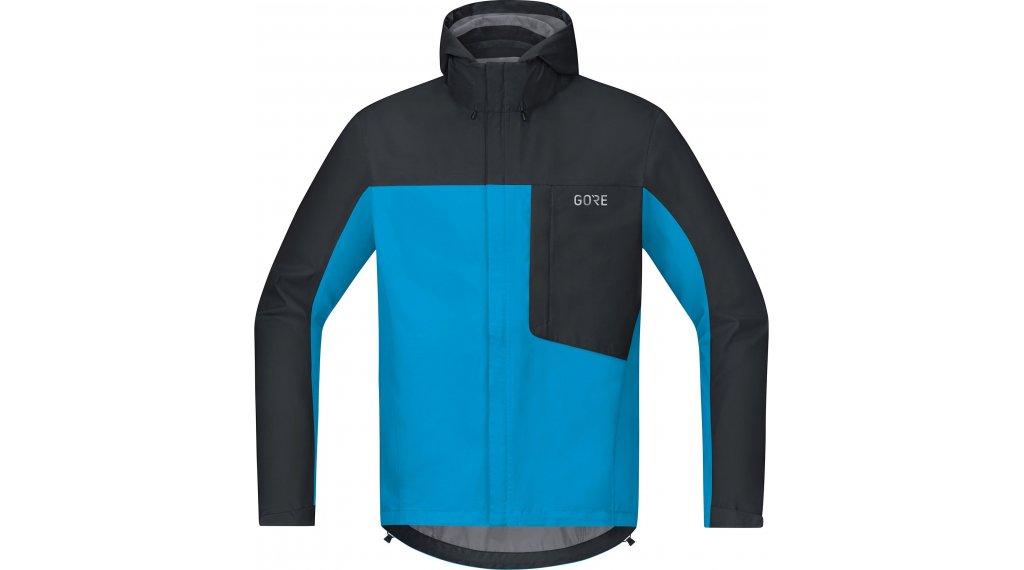 Gore C3 Gore-Tex Paclite hoodie jacket men size S dynamic cyan/black