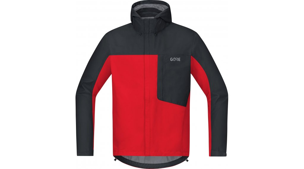 GORE C3 Gore-Tex Paclite Kapuzenjacke Herren Gr. S red/black