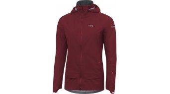 Gore C5 Gore-Tex Active Trail hoodie jacket ladies chestnut red