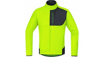GORE Bike Wear Power Trail Windstopper® Soft Shell Thermo chaqueta Caballeros color neón amarillo/negro