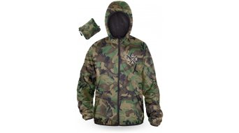 Loose Riders Forest Camo Water Resistant Windbreaker chaqueta Caballeros verde/marrón