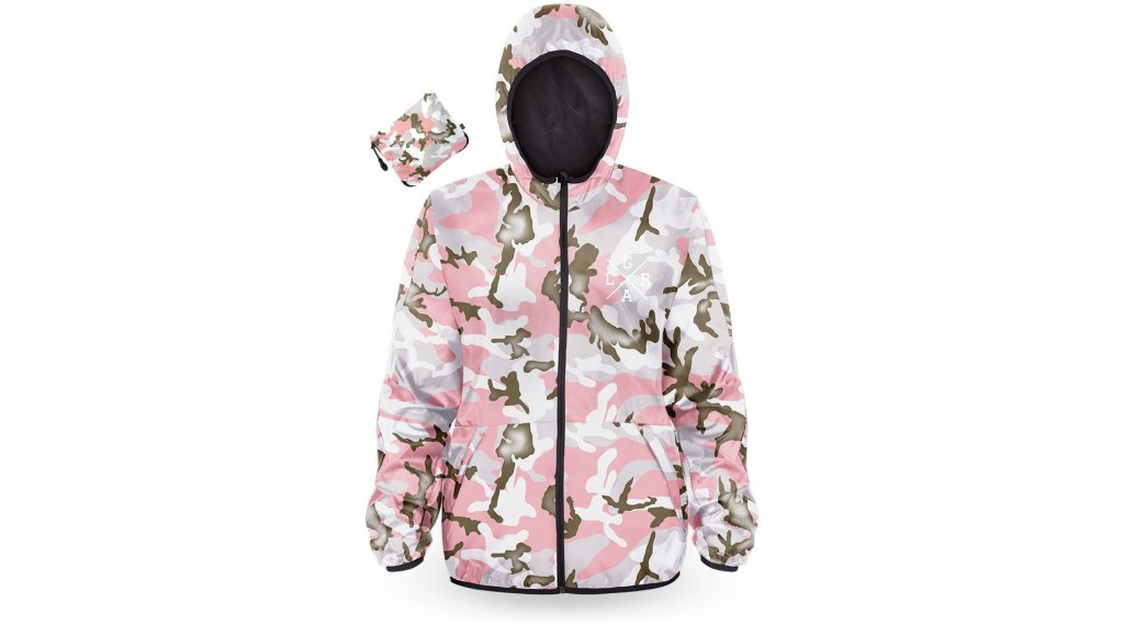 Loose Riders Forest 粉色 Camo Water Resistant Windbreaker 女士 型号 M 粉色