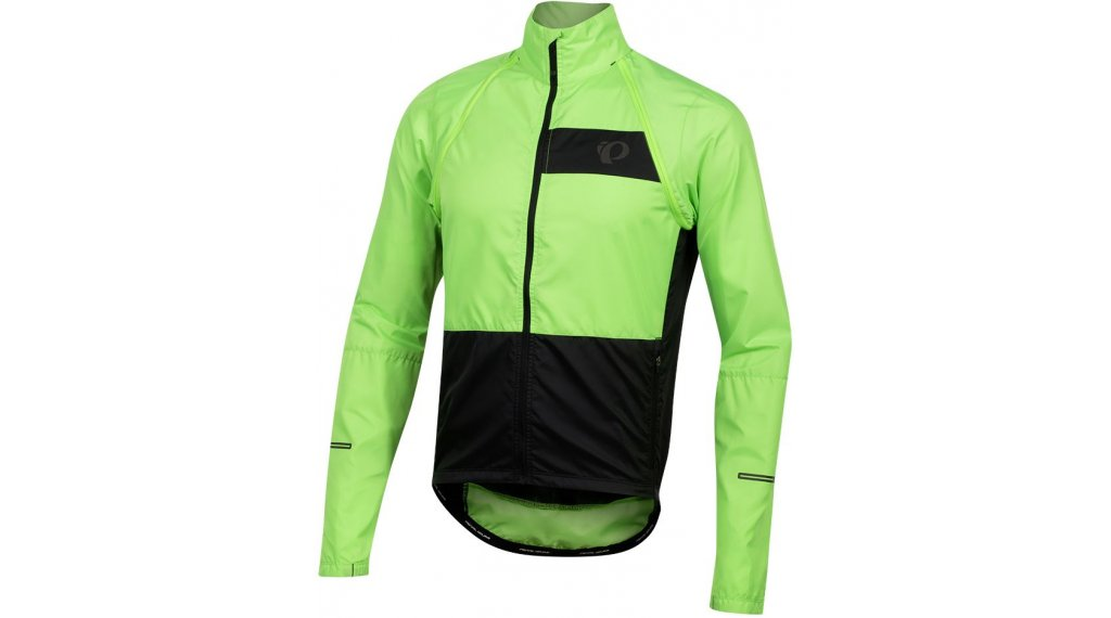 Pearl Izumi Elite Escape Convertible jacket men size S screaming yellow/black