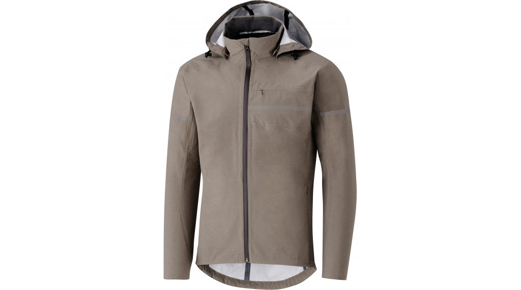 Shimano Transit Hardshell rain jacket men size S morel