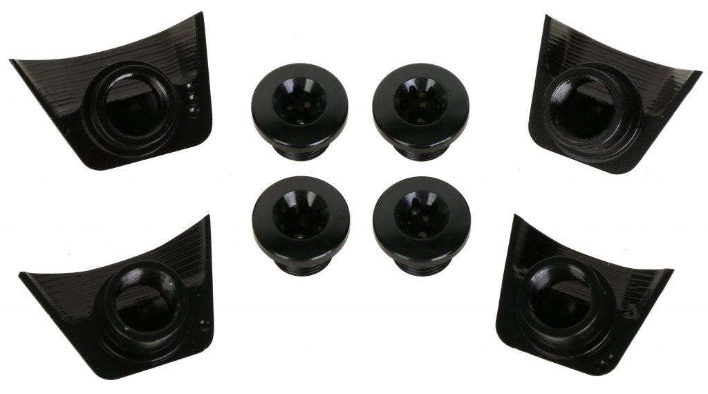 absolute Black Abdeckung für Kettenblattschrauben Ultegra 6800 schwarz