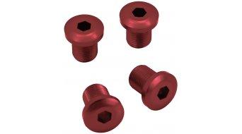 Gamut TTr Racering Bolt aluminium vis de plateau 9.5mm pour 1-vitesses pédaliern incl. Bashguard (4 pièce(s).) red