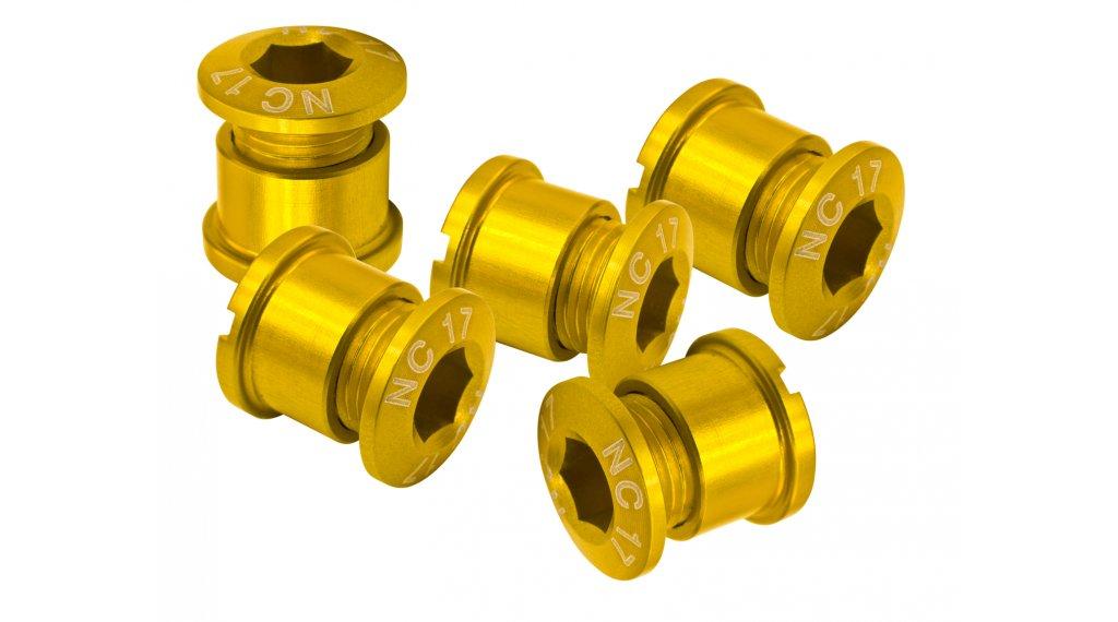 NC-17 CNC Kettenblattschrauben 4/5-Loch gold