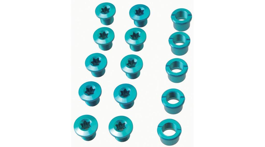 Procraft Kettenblattschrauben für 3-fach Kurbeln blau