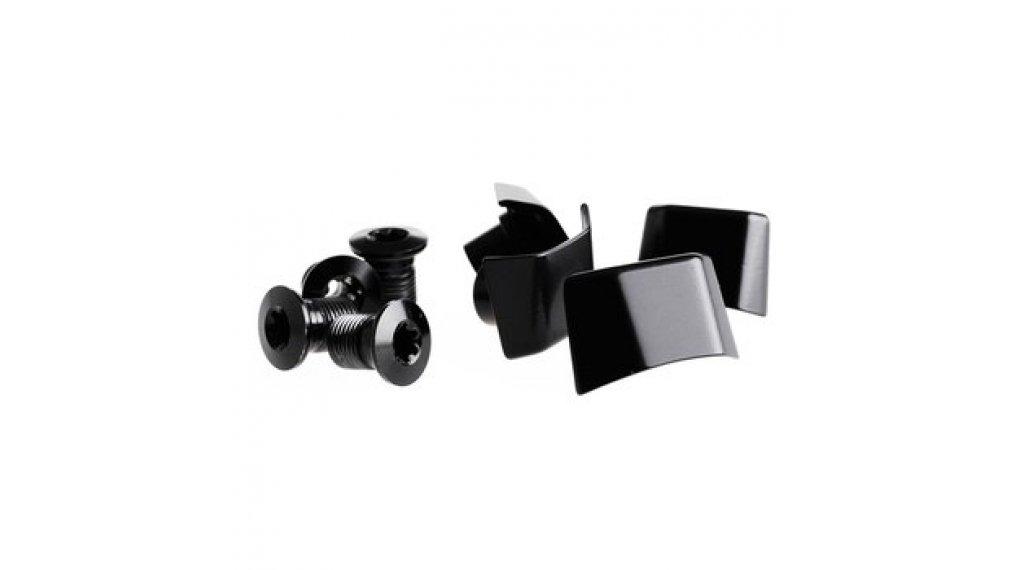 rotor Cover pour Shimano Ultegra 6800 vélo de course pédalier 4-trous (110mm) noir (4 pièce(s).)