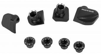 rotor Cover pour Shimano Dura Ace 9100 vélo de course pédalier 4-trous (110mm) noir (4 pièce(s).)