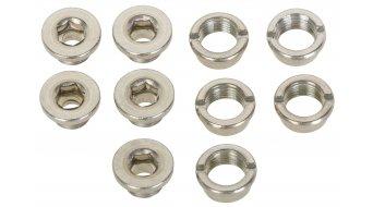 ROTOR Track 牙盘螺丝 (5x 螺丝/5x 螺母) 银色