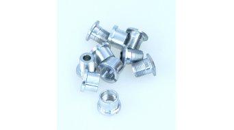 Tune aluminium vis de plateau set pour 2-vitesses argent (10-teilig) (pas pour Campa Torque-manivellen)