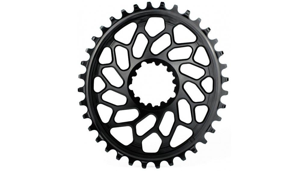 absolute Black XX1 Direct Mount ovales Cyclocross Kettenblatt 40 Zähne schwarz