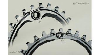 absolute Black Narrow Wide ovales Kettenblatt 30 Zähne schwarz 4-Loch (104mm)