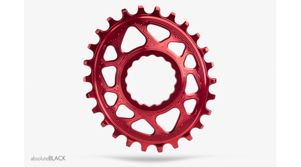 absolute Black RaceFace Cinch N/W Direct Mount ovales corona catena Boost148 36 Zähne rosso
