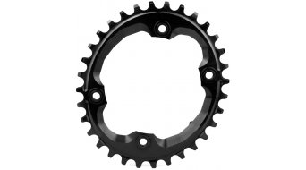 absolute Black N/W ovales chain ring black 4 hole (96mm) for Shimano XTR M9000 crank
