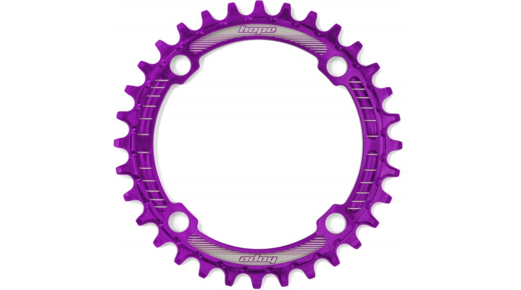 Hope Retainer Narrow Wide 牙盘 30 齿 4-孔 (104mm) purple