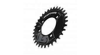 rotor NoQ RX2 MTB chain ring 2 speed black