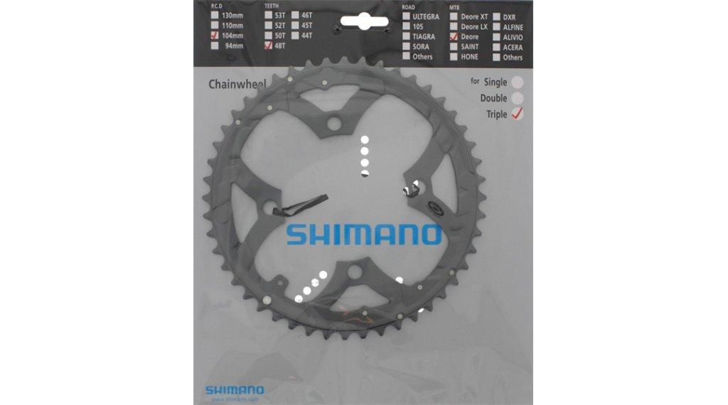 Shimano Deore 9-fach Kettenblatt 48 Zähne silber FC-M590/591