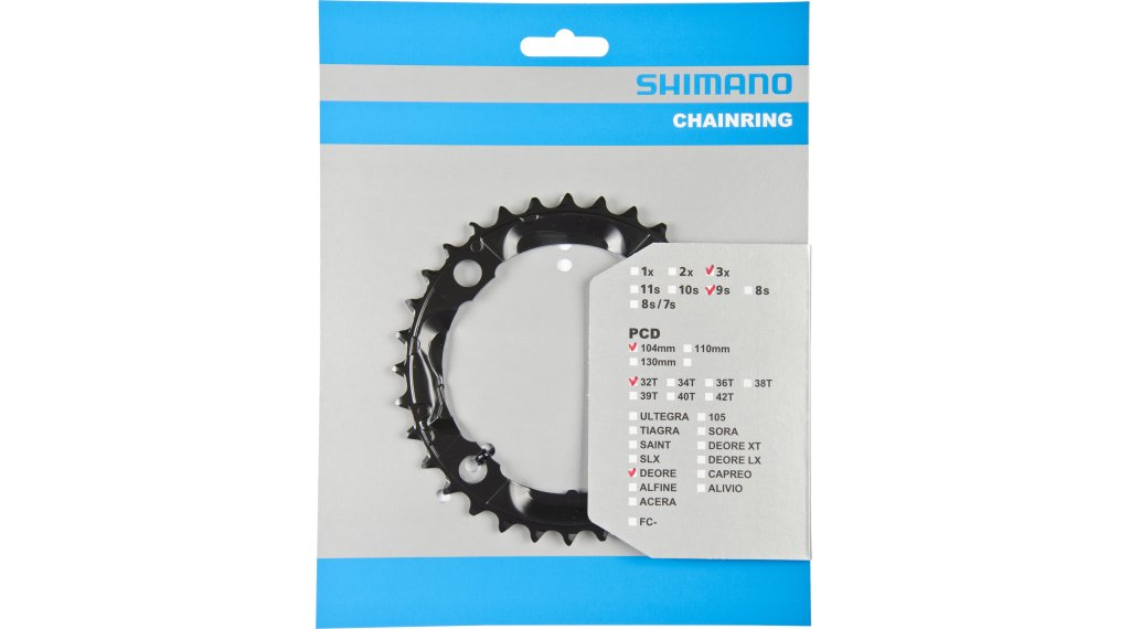 Shimano Deore 9-speed chain ring 32  teeth black FC-M590/591/M391