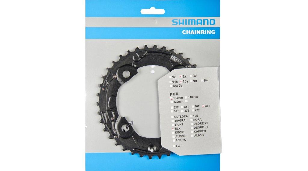 Shimano SLX FC-M675 2x10 Kettenblatt 4-arm 104 LK 38 Zähne AK schwarz