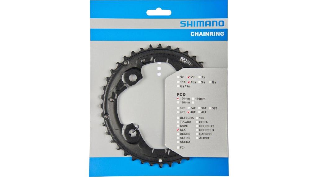 Shimano SLX FC-M675 2x10 Kettenblatt 4-arm 104 LK 40 Zähne AJ schwarz