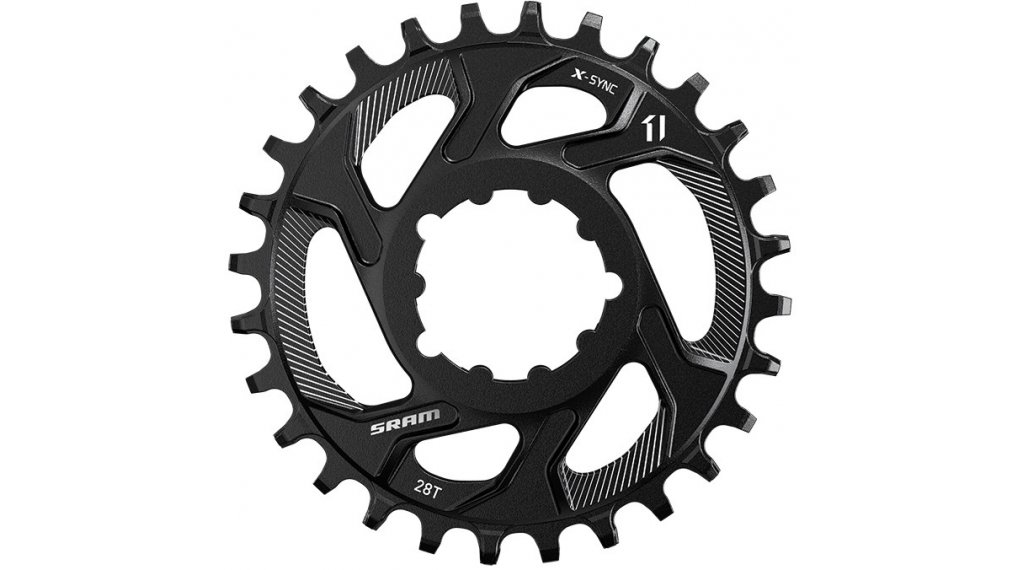SRAM X-Sync Steel Kettenblatt 11-fach 28 Zähne DirectMount 3mm Offset Boost black