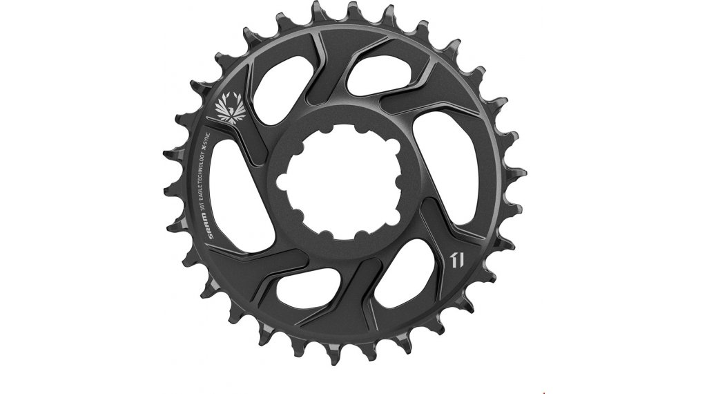 SRAM X-Sync2 Eagle ST Kettenblatt 11/12-fach 30 Zähne Direct Mount 6mm Offset Steel black