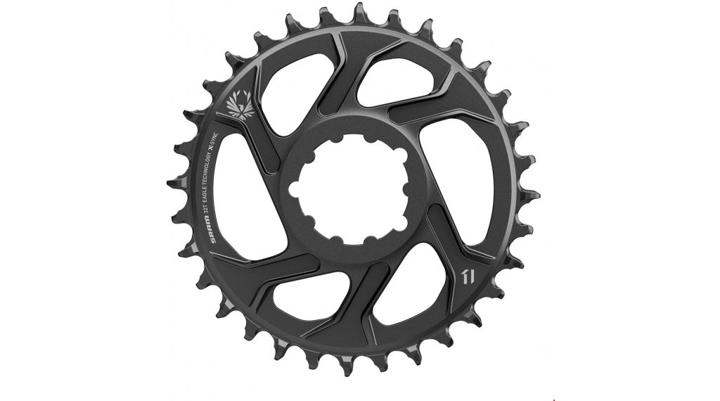 SRAM X-Sync2 Eagle ST Kettenblatt 11/12-fach 32 Zähne Direct Mount 6mm Offset Steel black