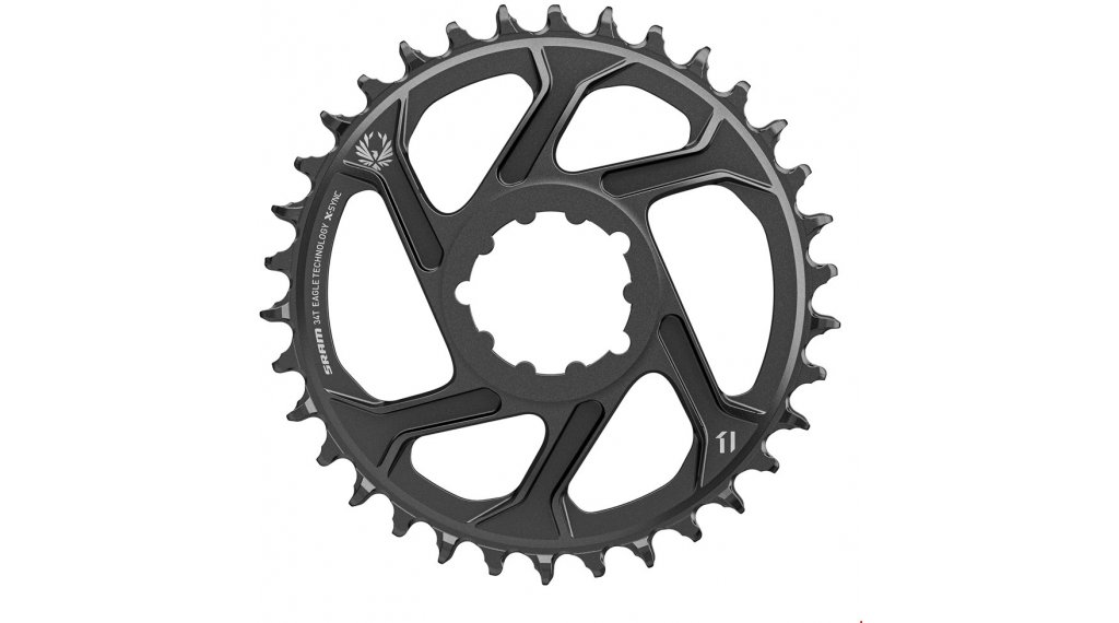 SRAM X-Sync2 Eagle ST Kettenblatt 11/12-fach 34 Zähne Direct Mount 6mm Offset Steel black