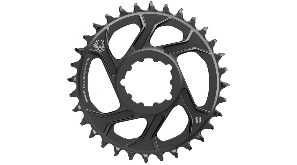 SRAM X-Sync2 Eagle SL Kettenblatt 11/12-fach 34 Zähne Direct Mount 6mm Offset Aluminum black
