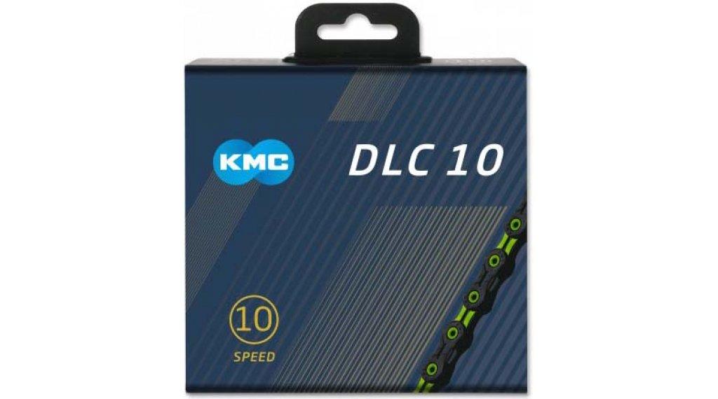 KMC DLC10 Kette 10-fach 116-Glieder black/green