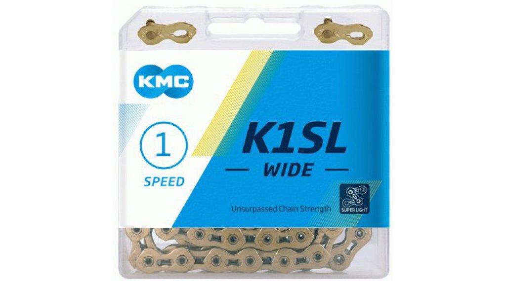 "KMC K1 SL Kette 1/2""x1/8"" 100-Glieder Ti-N gold"