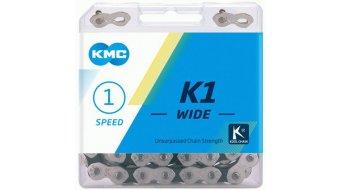 """KMC K1 SL Kette 1/2""""x1/8"""" 110-Glieder silver/black"""