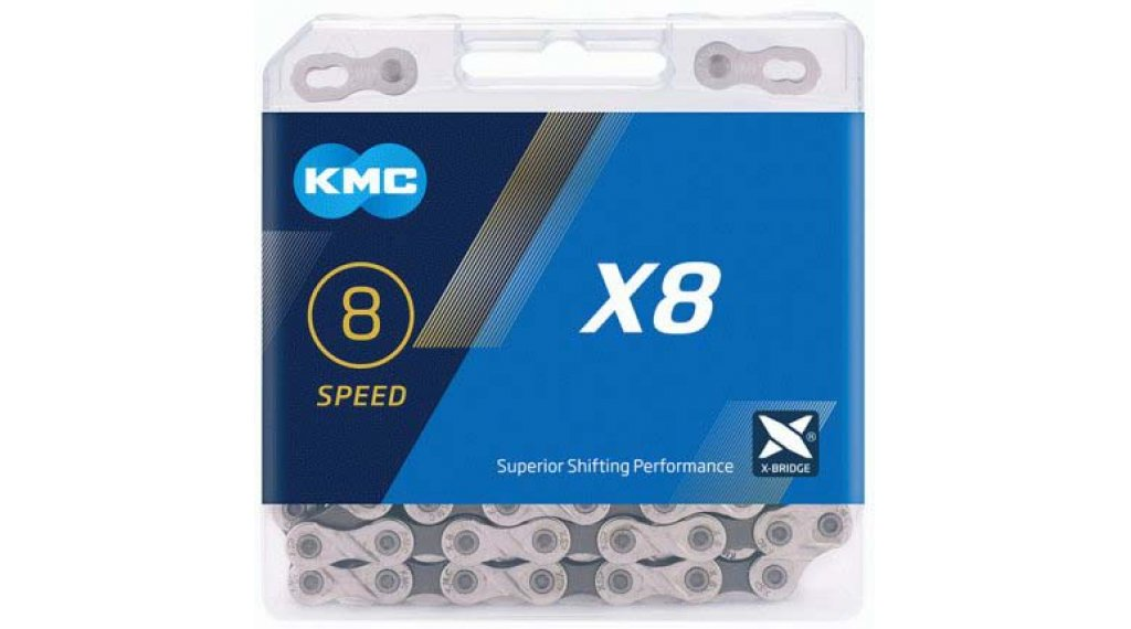 KMC X8 Kette 8-fach 114-Glieder silver/grey