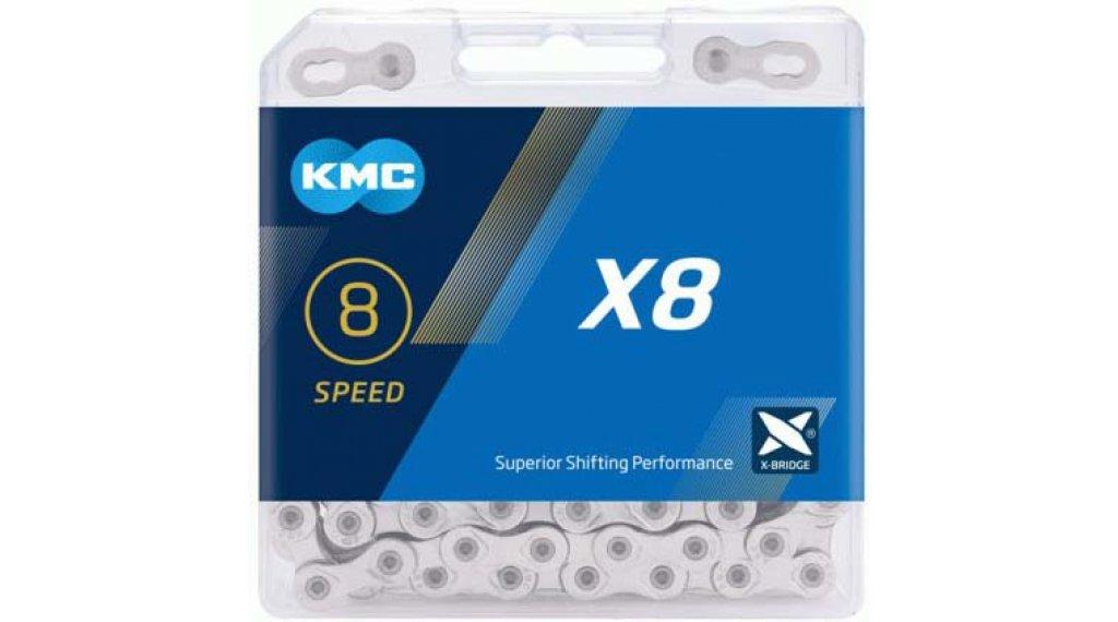 KMC X8 Kette 8-fach 114-Glieder silver