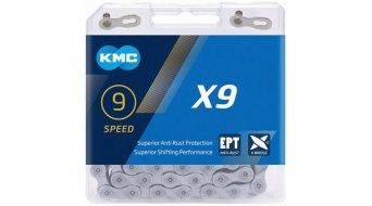 KMC X9 Kette 9-fach 114-Glieder EPT silver