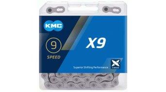 KMC X9 Kette 9-fach 114-Glieder grey