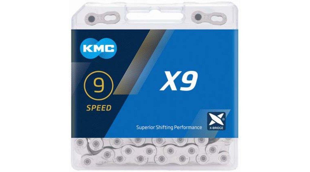 KMC X9 Kette 9-fach 114-Glieder silver