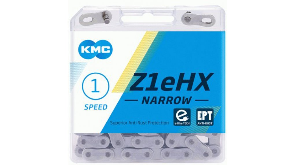 "KMC Z1eHX Kette 1/2""x3/32"" 112-Glieder EPT silver"