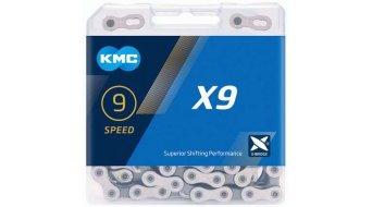 KMC X9 Kette 9-fach 114-Glieder silver/grey